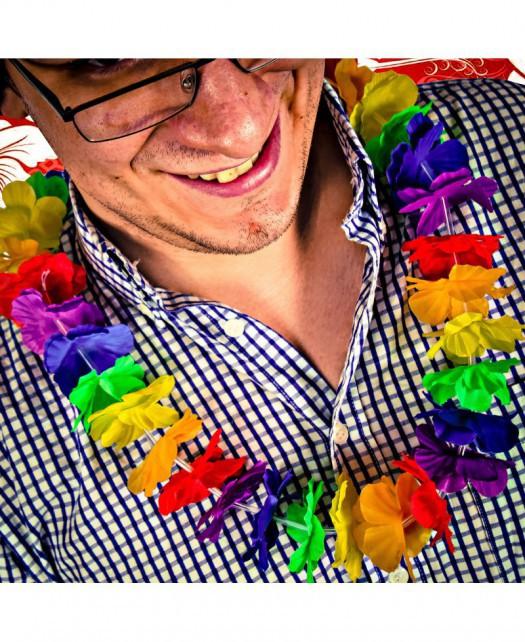 Hawajski naszyjnik z kwiatów