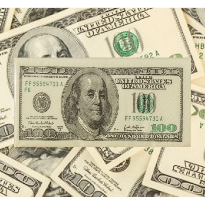 Serwetki 100 Dolarów