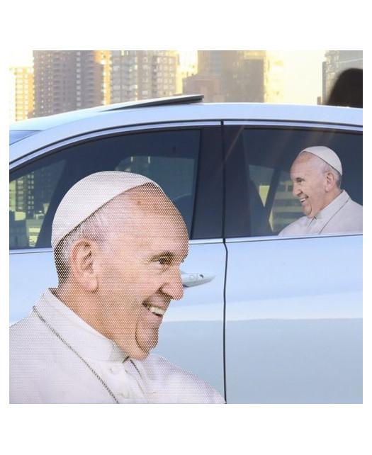 Samochodowa naklejka na szybę- Papież