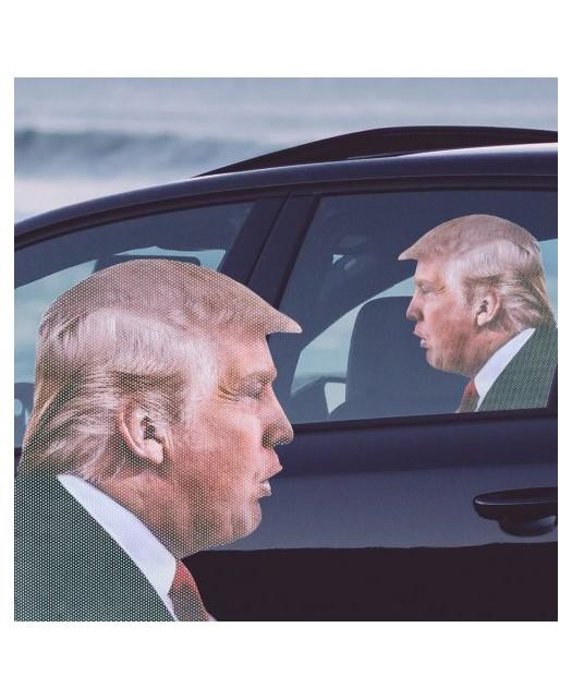 Samochowa naklejka na szybę- Donald Trump