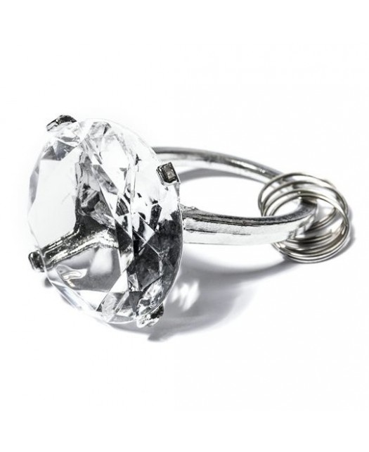 Diamentowy Brelok - przeźroczysty
