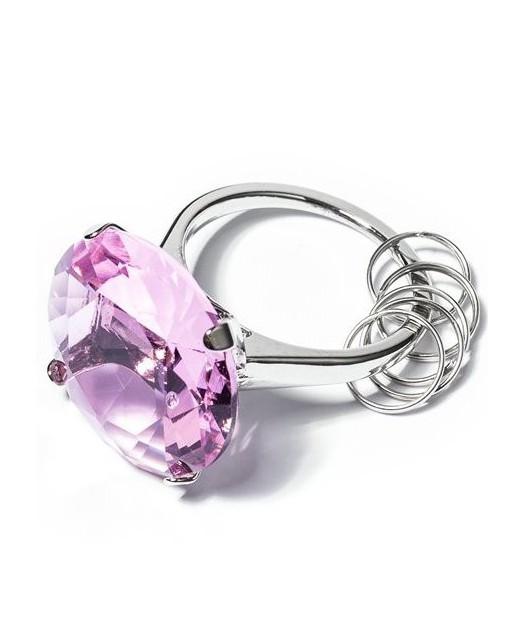Diamentowy Brelok - różowy
