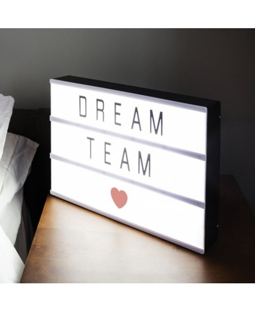 Tablica LED LightBox A4 z literami