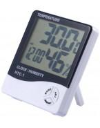 Higrometr Termometr Cyfrowy Zegar Stojący